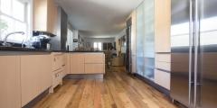 Reclaimed oak flooring kitchen remodel