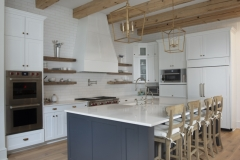 exposed beams kitchen design white oak flooring