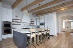 kitchen flooring white oak beams