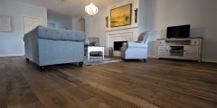 Rustic Oak Barnwood Flooring Living Room