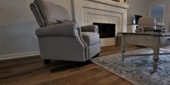 barnwood flooring  living room