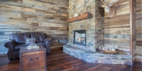 Mixed Hardwood Wall Paneling