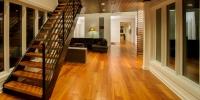 reclaimed pine flooring hallway