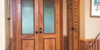 Antique Cypress Entry Doors, Sinker Cypress Shutter Doors, Wainscoting & Trim