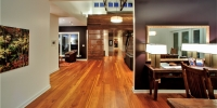 Heart Pine Flooring Dining Room Open Plan