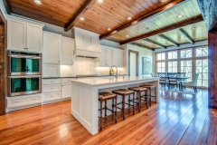 Nashville Kitchen Design Exposed beams, wood ceiling