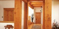 SIlvan flooring and exposed pine beams (1)