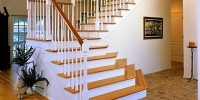NuHeart Pine Flooring, Heart Pine Stairs and railings