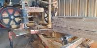 woodmizer saw cutting beams