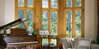 Antique Heart Cypress Windows and Trim, Chateau Collection Flooring