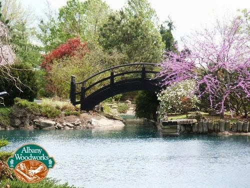 Albany Woodworks Builds Moon Bridges From Antique Heart Cypress, 1988