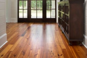 Pine Wood Flooring with Custom Finish