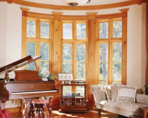 Antique Heart Cypress Custom Windows 1
