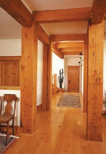 old heart pine beams