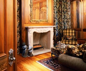 Albany Woodworks Cypress Walls Floor White Mantle