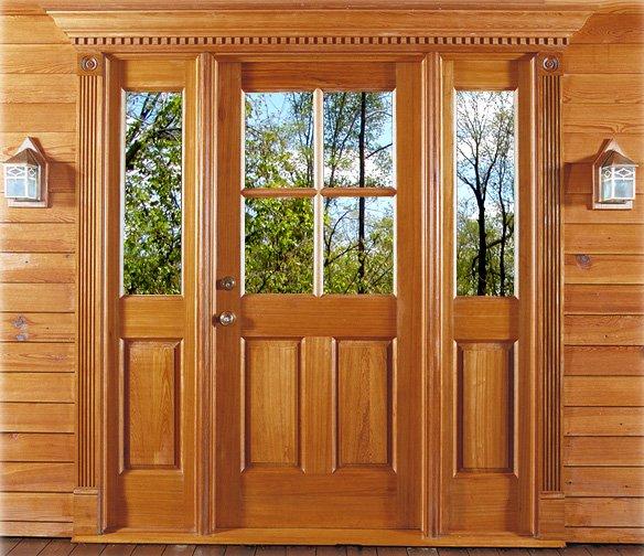 Antique Cypress Door & Side Lights