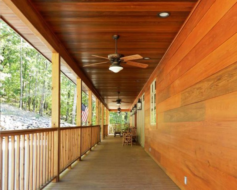 Sinker Cypress Ceiling and Wall Paneling Exterior