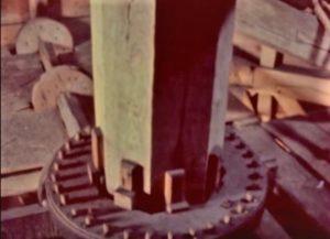 Windmill Oak Wood Beam Gardiner Island