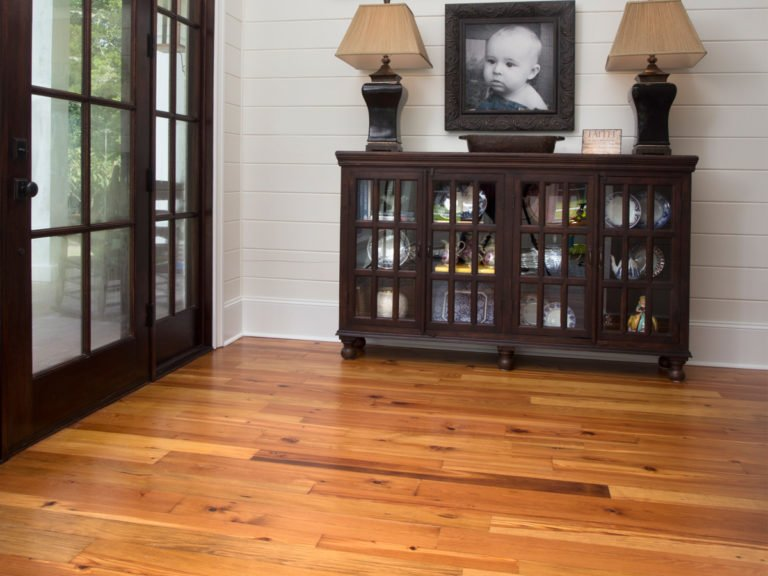 Silvan Collection Pine Flooring with custom stain