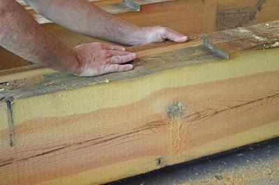 old pine beams