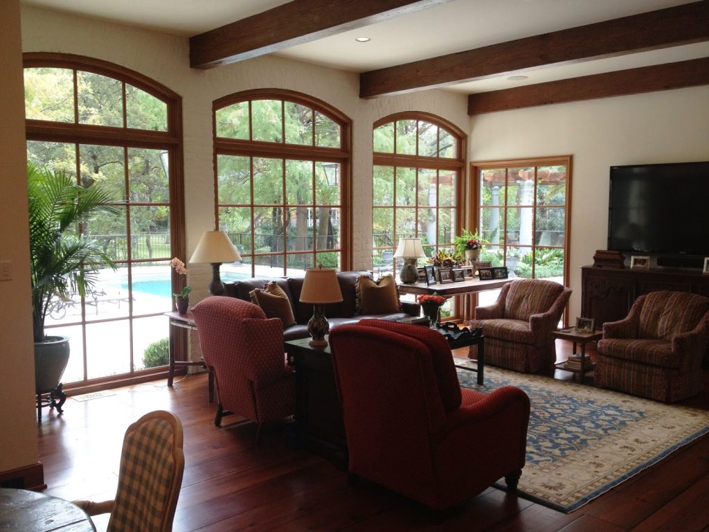 home remodel beams and custom windows